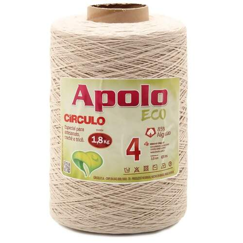 Barbante Apolo Eco Circulo N.04 Cru 1,8Kg
