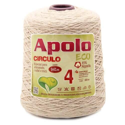 Barbante Apolo Eco Circulo N.04 Cru 600g