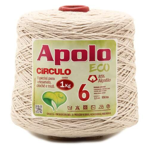 Barbante Apolo Eco Circulo N.06 Cru 1Kg