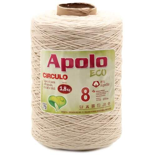 Barbante Apolo Eco Circulo N.08 Cru 1,8Kg