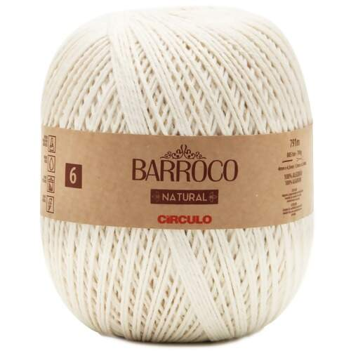 Barbante Barroco Natural  nº6 700g
