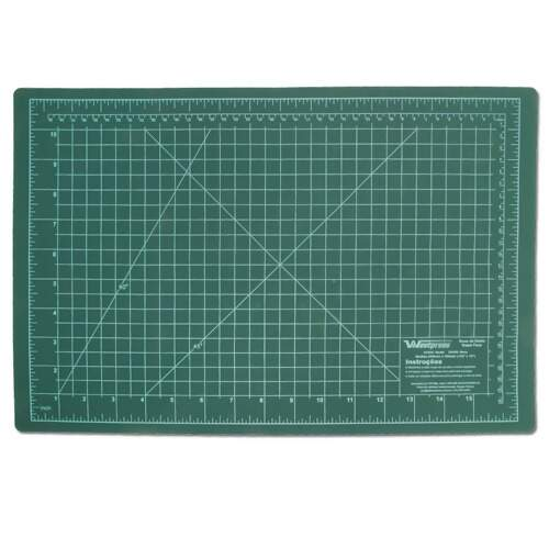 Base de Corte Dupla Face 45x30 cm 3mm Westpress cor Verde