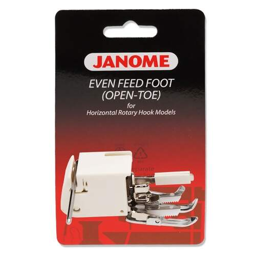 Calcador Janome Aberto para Quilting Reto Walking Foot 200339007