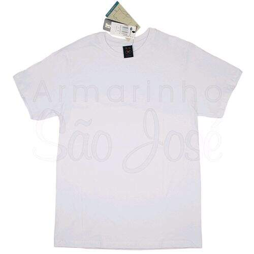 c40fb1d36 Camiseta Hering Meia Manga Adulto Masculino- Branca