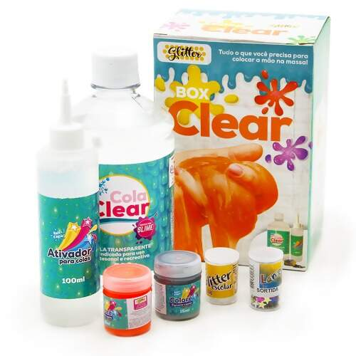 Kit Box Clear Slime Glitter