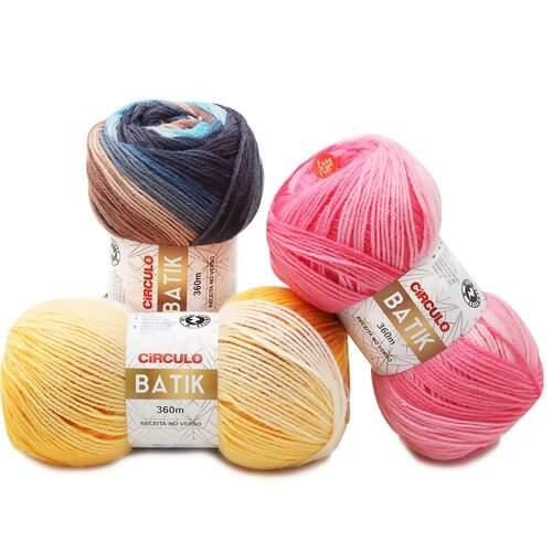 Lã Batik Circulo 100gr  8d8fe8cba98