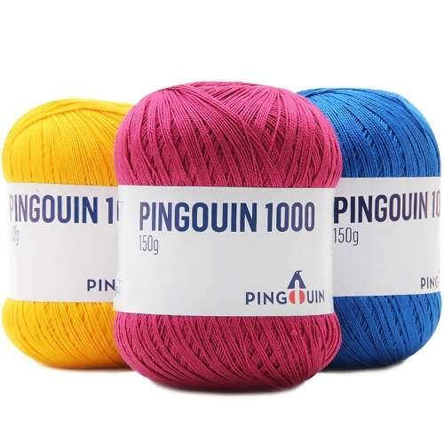 Linha Pingouin 1000 Para Crochê E Tricô  838625ab342