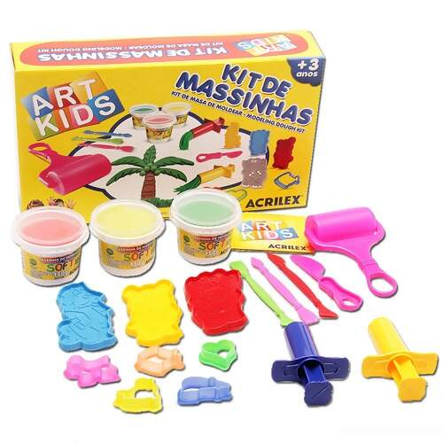 Kit de Massinhas de Modelar Acrilex Ref 40005 Art Kids 450g FL