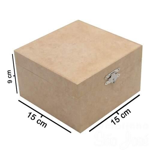 602022b4a47 Caixa de MDF com Dobradiça e Fecho - 15x15x8cm