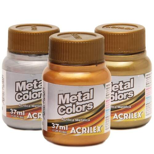 Tinta Acrilex Metal Colors Ref.03640 37ml - 1 unidade