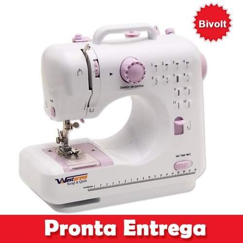 Mini Máquina de Costura Doméstica Westpress W-512 Bivolt f619a7fe597