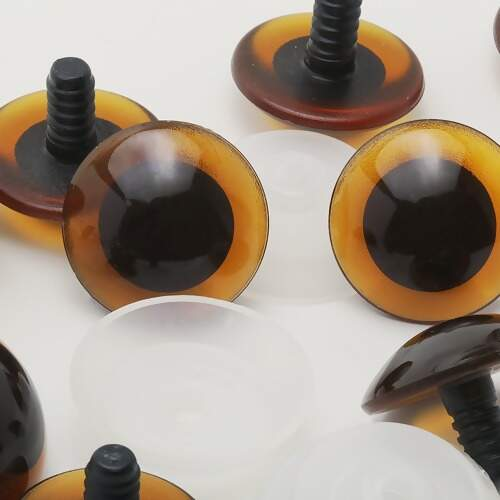 Olho para Amigurumi Círculo Nº 08 Preto - 100 Pares com Trava ... | 450x450