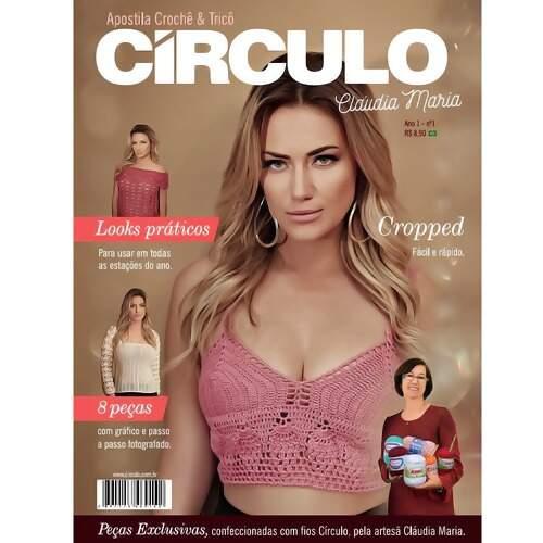 Revista Circulo Crochê Tricô Claudia Maria - Revistas Para Artesanato d779903535d