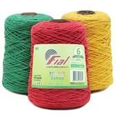 Barbante Colorido Extra Fial N.06 400g