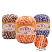 Barbante Barroco Multicolor c/ Brilho Prata 200 GR