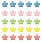 Bot�o Patchwork We Care About Mini Estrela