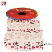 Fita de Cetim Decorativa Circulo Nº 05 22mm Ref.352870 Cor 126 Love You 10m