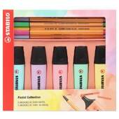 Kit Stabilo Pastel Collection com 5 Stabilo Point 88 + 5 Stabilo Boss