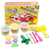 Kit de Massinhas de Modelar Acrilex Ref 40004 Art Kids 450g