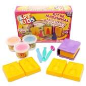 Kit de Massinhas de Modelar Acrilex Mini Livro Princesas Ref 40033 Art Kids 450g