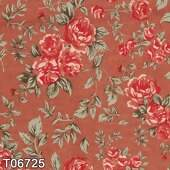 Tecido Patchwork Fabricart T06725 Grand Floral Nashville Tijolo 0,50x1,46 mt