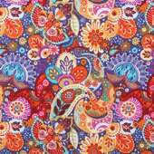 Tecido Patchwork Dohler 19858-5252 Paisley 0,48x1,50mts