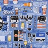Tecido Patchwork Dohler 23118-5484 Enjoy Beer 0,48x1,50m