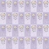 Tecido Patchwork Fabricart T10024 Nuvens Patch 0,48x1,46mts