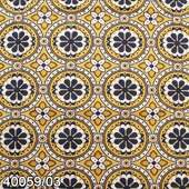 Tecido Patchwork Telanipo 40059/03 Estampado Decor Mostarda 0,50x1,50mt